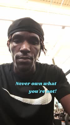 Never own what you're not!